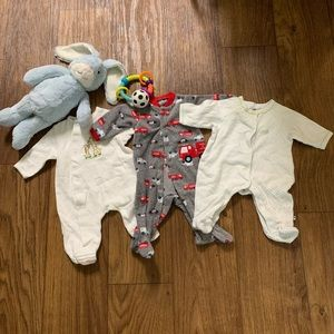 3 for $15/$7 each Newborn Pajama Footed